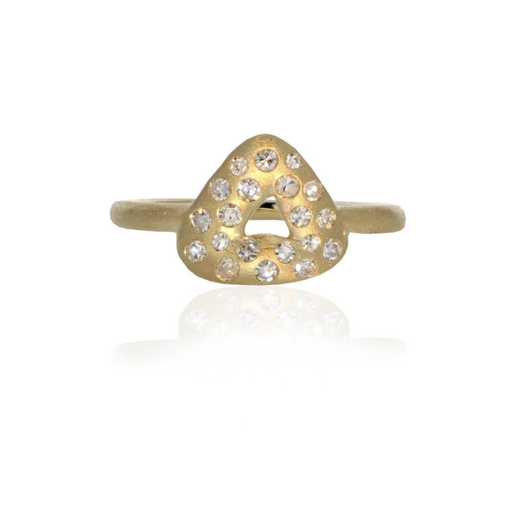 Lisa Des Camps Trio Charm Ring with Diamonds