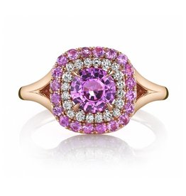 Omi Prive Duet Pink Sapphire Ring