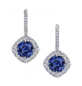 Omi Prive Dore Blue Sapphire Earrings