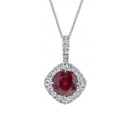 Omi Prive Dore Ruby Necklace