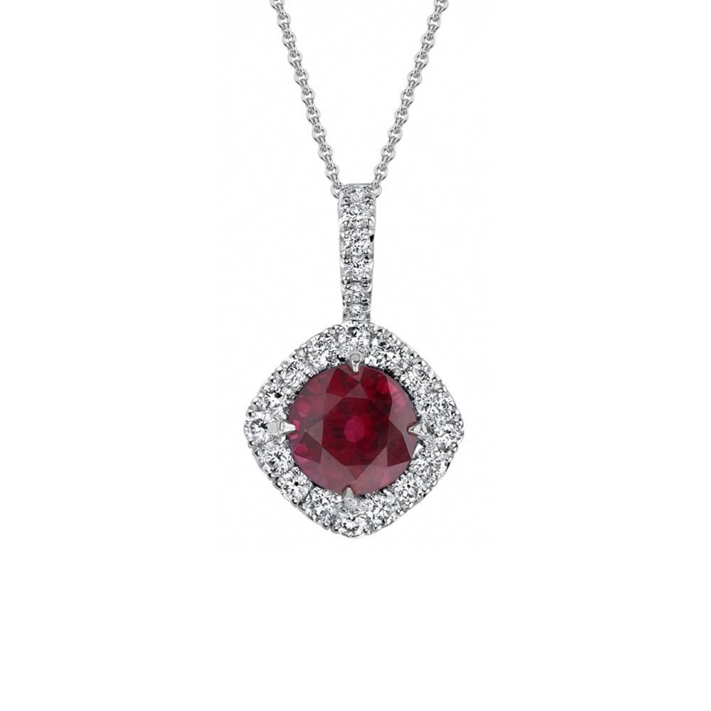 Omi Prive Dore Ruby Necklace