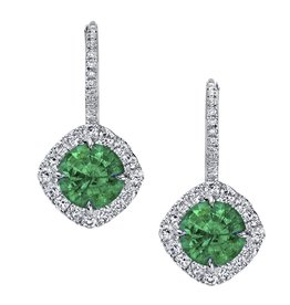 Omi Prive Dore Emerald Earrings