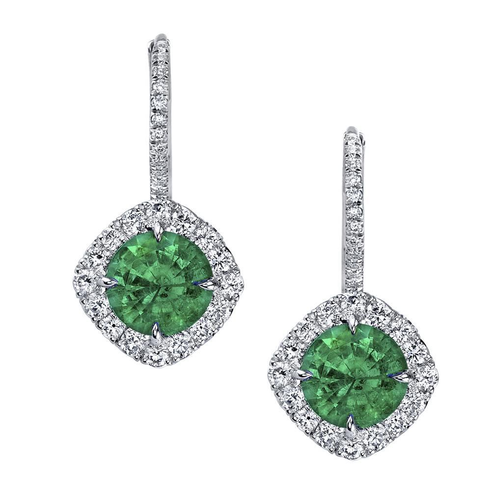 Omi Prive Dore Emerald Earrings