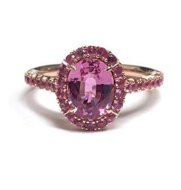 Omi Prive Dore Pink Sapphire Ring