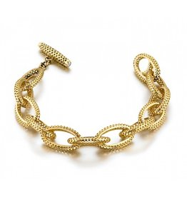 Ray Griffiths Small Crownwork Oval Link Bracelet
