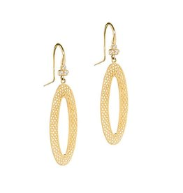 Ray Griffiths Triple Diamond Oval Crownwork Earrings