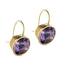 Ray Griffiths Crownwork Bezel Amethyst Earrings
