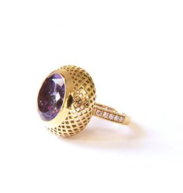 Ray Griffiths Dome Crownwork Amethyst Ring
