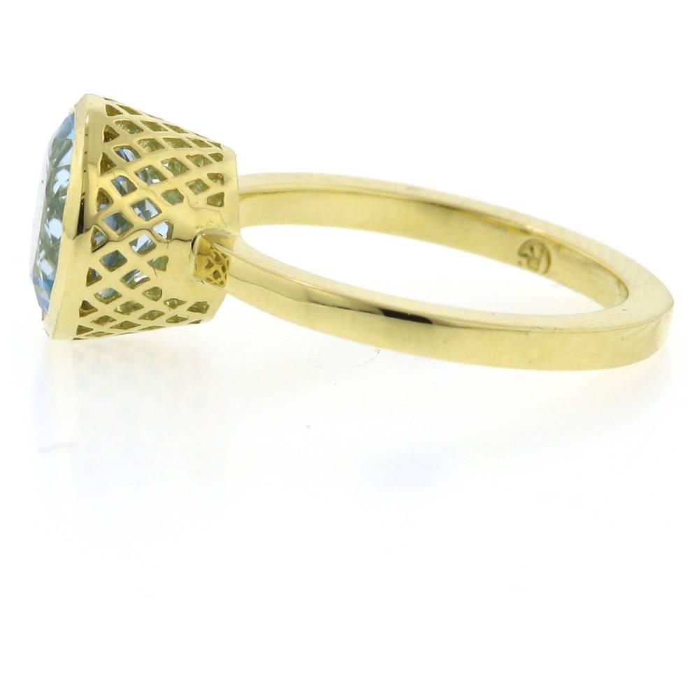 Ray Griffiths Crownwork Bezel Blue Topaz Ring