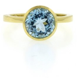 Ray Griffiths Crownwork Bezel Blue Topaz Ring