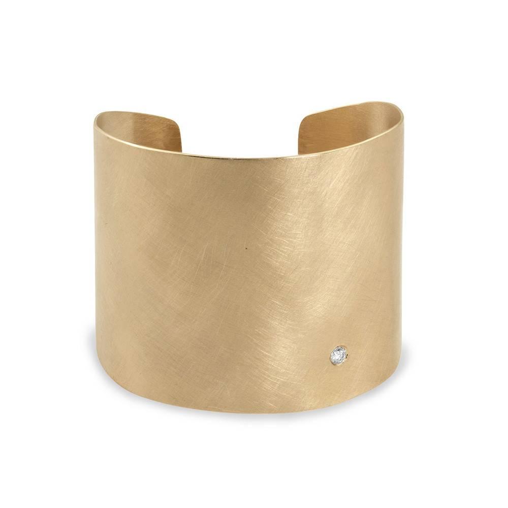 Julez Bryant Bold Cuff Bracelet Yellow Gold
