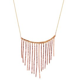 Julez Bryant Fringe Necklace Rose Gold