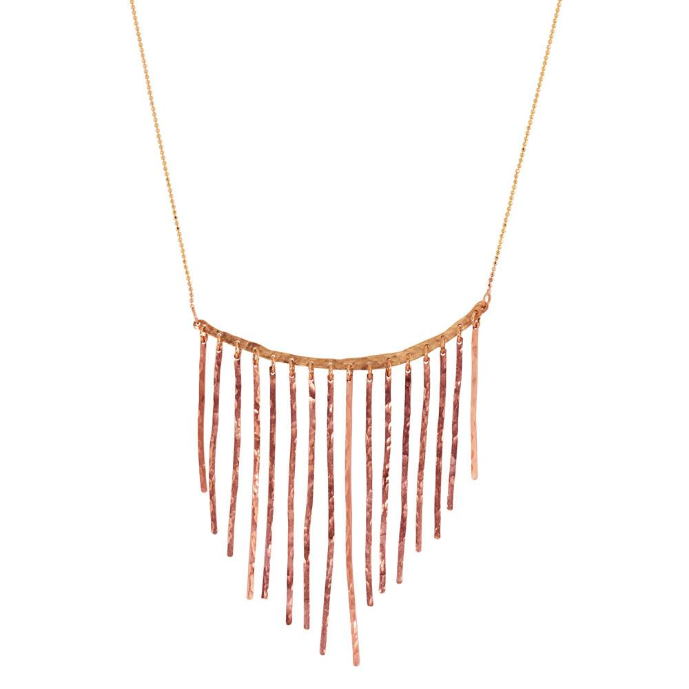 Julez Bryant Fringe Rose Gold Necklace
