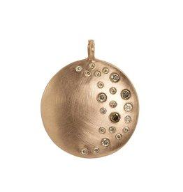 Julez Bryant Mina Extra Large Round Pendant Rose Gold