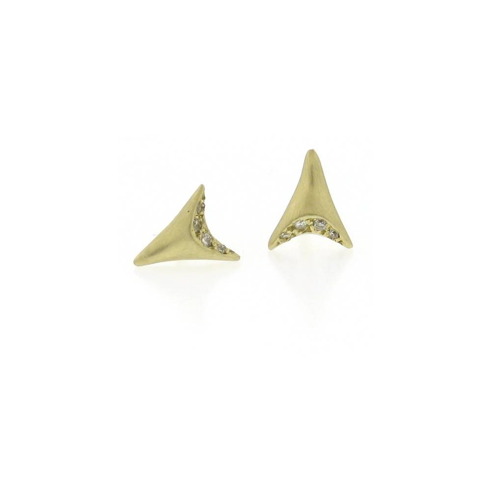 Branch Mini Tooth Stud Yellow Gold