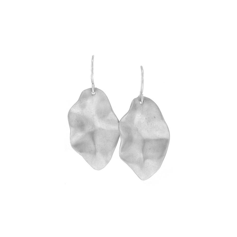 Branch Twisted Leaf sterling silver drop earrings