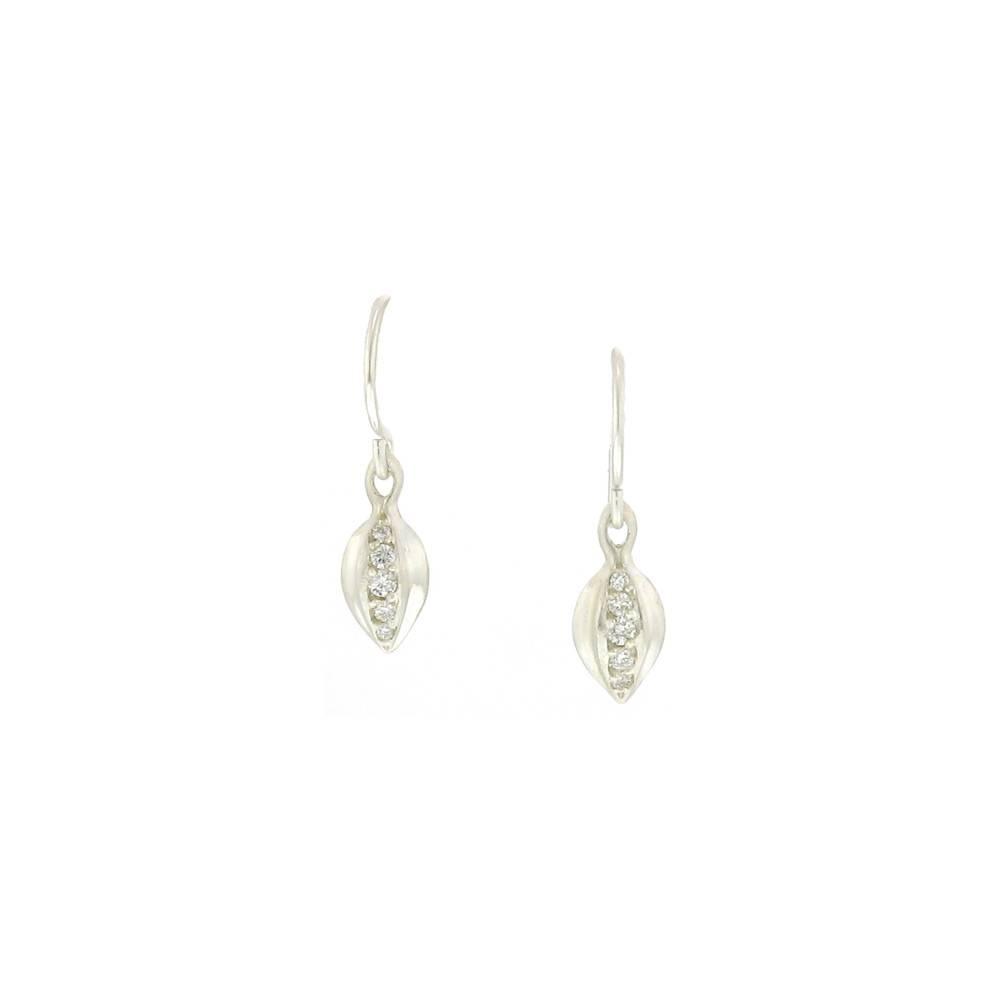 Branch Tiny Bud Earrings Silver