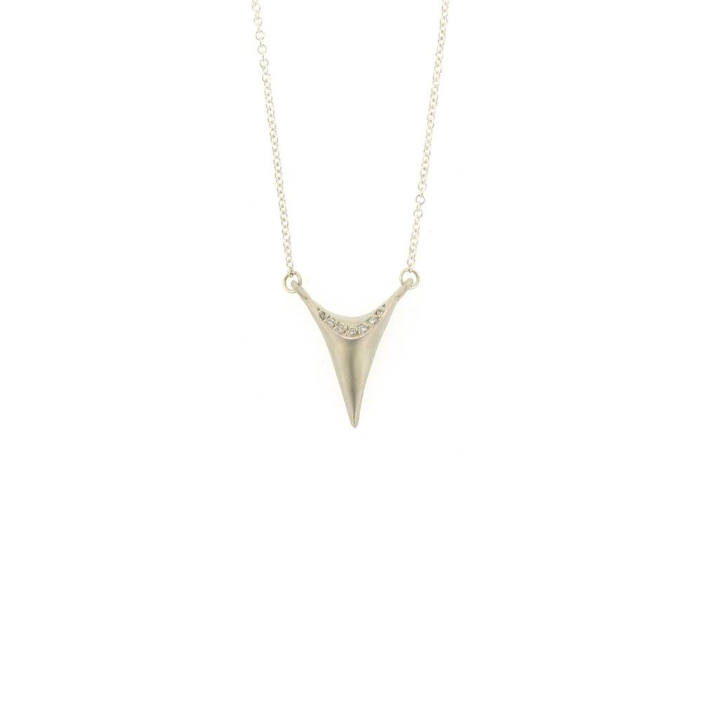 Branch Tooth Necklace Silver