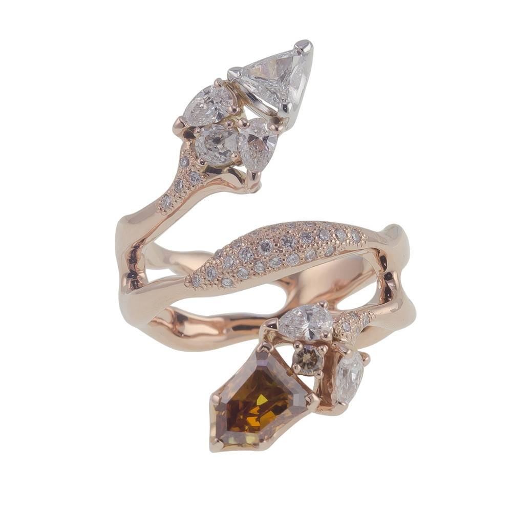 Federica Rettore Organic Diamond Ring Rose Gold