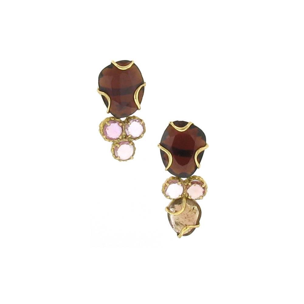 Federica Rettore Cluster Earrings Rose Gold