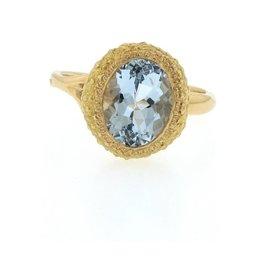 Federica Rettore Riccio Aquamarine Rose Gold Ring