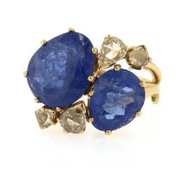 Federica Rettore Bocciolo Tanzanite Ring Rose Gold