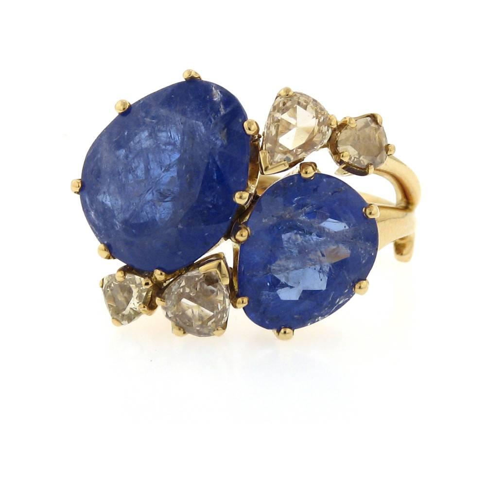 Federica Rettore Bocciolo Tanzanite Rose Gold Ring