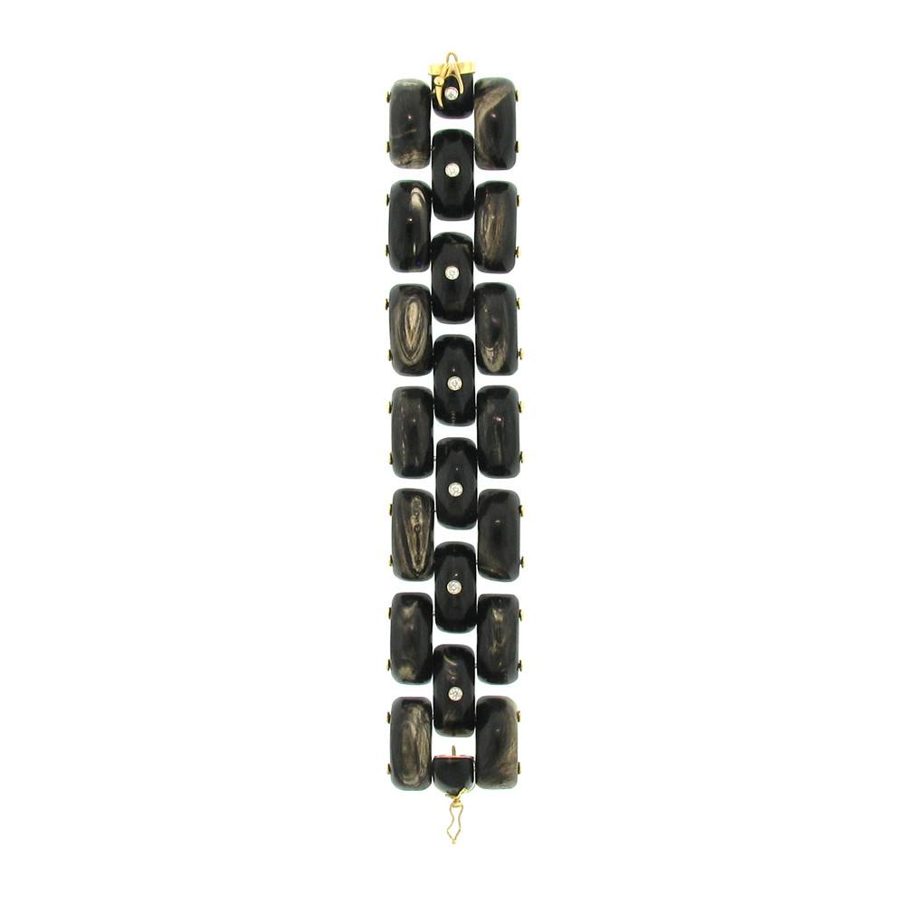 Federica Rettore Alba Panthere Three Row Bracelet