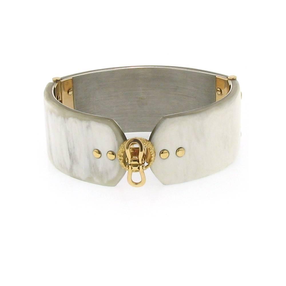 Federica Rettore Alba White Zebu Horn Bracelet