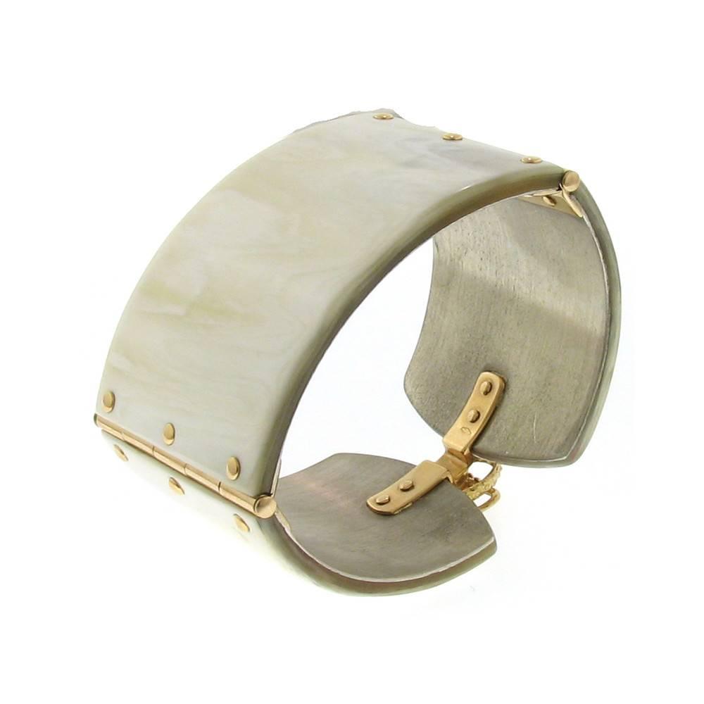 Federica Rettore Alba White Zebu Horn Cuff