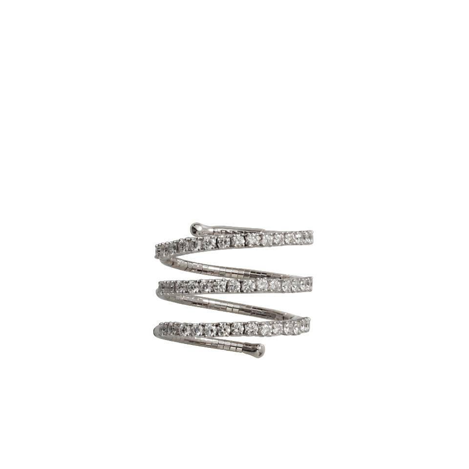 Mattia Cielo Rugiada Three Coil Ring White Gold