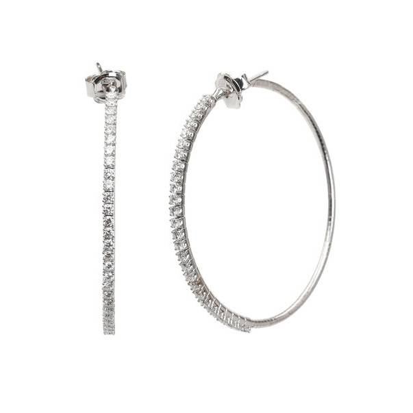 Mattia Cielo Rugiada Tennis Collection Earrings White Gold