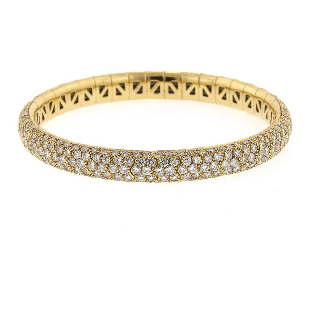 Mattia Cielo Universo Diamond Pave Rose Gold Bracelet