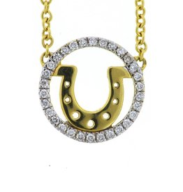Buddha Mama Horseshoe Necklace