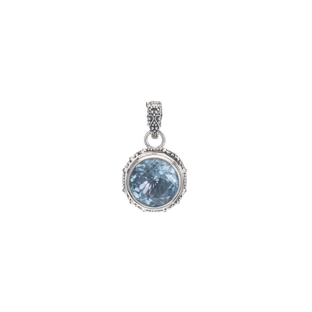 Kir Jawan Blue Topaz Silver Pendant