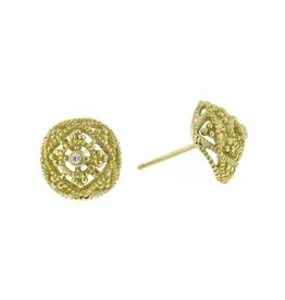 Diana Heimann Small Bauble Earrings Yellow Gold