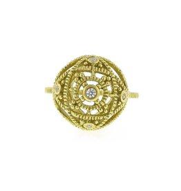 Diana Heimann Medium Bauble Ring Yellow Gold