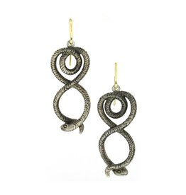 Diana Heimann Snake Earrings