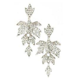 Diana Heimann Edwardian Fleur Earrings White Gold