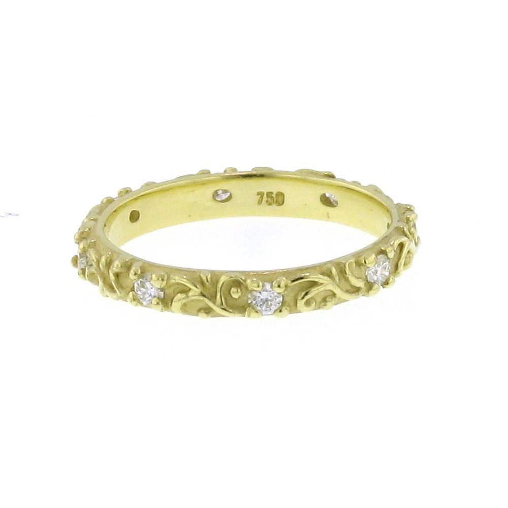 Diana Heimann Vine Yellow Gold Band