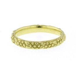 Diana Heimann Daisy Band Ring Yellow Gold