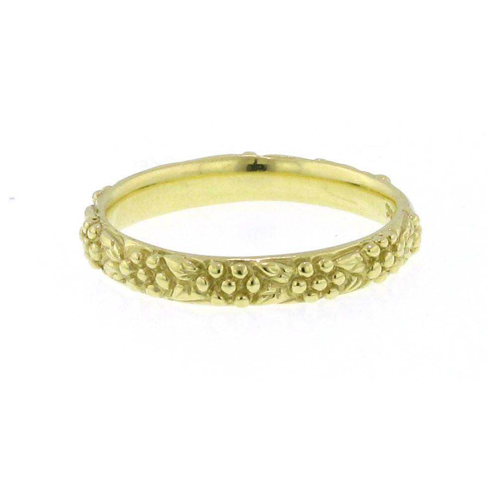 Diana Heimann Daisy Yellow Gold Band Ring