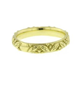 Diana Heimann Leaf & Berry Ring Yellow Gold