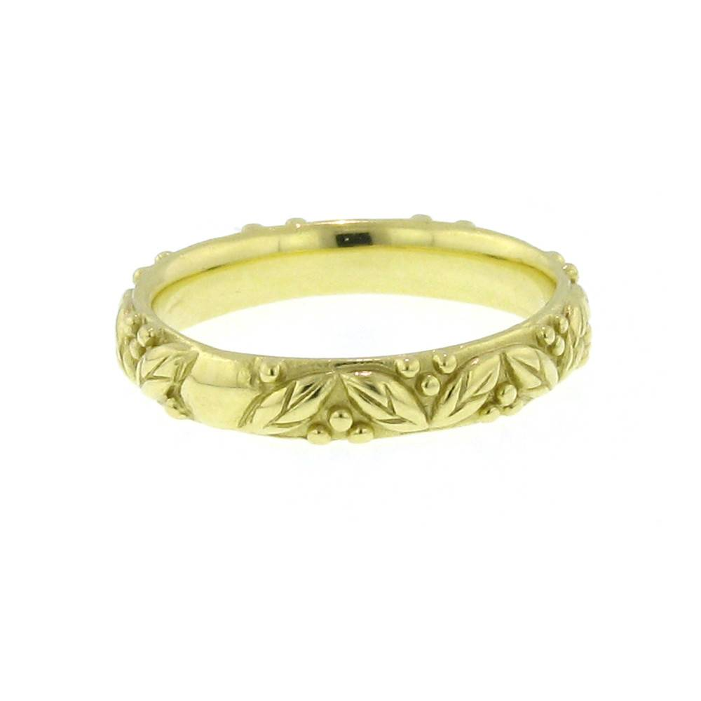 Diana Heimann Leaf & Berry Yellow Gold Ring