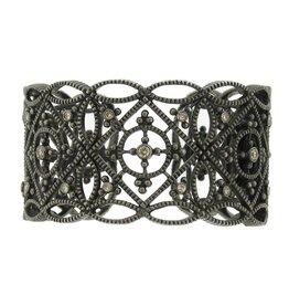 Diana Heimann Bauble Black Rhodium Silver Cuff