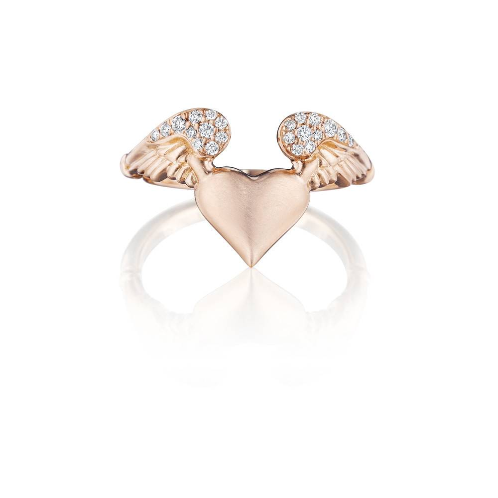 Anthony Lent Pave Flying Heart Ring