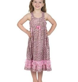 Pink and Tan Leopard Skin Racer back Gown
