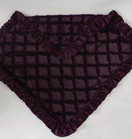 Cuddle couture Plum lattice plush blanket