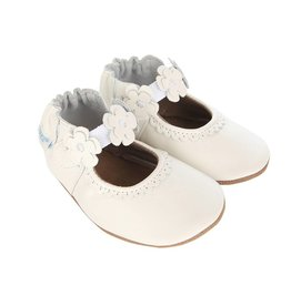 Robeez Claire, Mary Jane's, White Leather