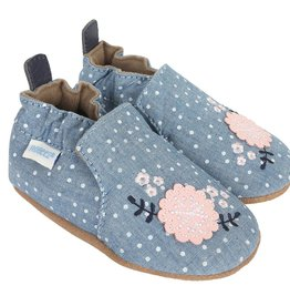 Robeez Soft Soled Chambray Bouquet
